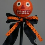 Folk Art Jack O' Lantern on Stick