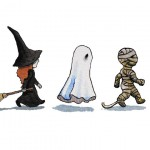 Trick or Treat (Witch, Ghost, Mummy)