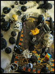 Black Skull Rosary