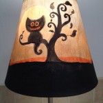 Black Halloween Kitty Lampshade