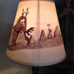 Monster and the Boy lampshade