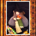 Needle felted witch from Forest Whimsy